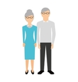 grandparents characters isolated icon vector image vector image