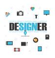 graphic designer gadget vector image vector image