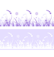 grass pattern with flowers vector image vector image
