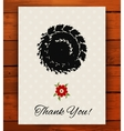 grunge vintage card with black hand drawn textures vector image vector image