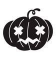halloween pumpkin icon simple style vector image vector image