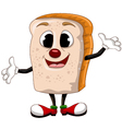 happy bread cartoon vector image vector image