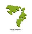 Isometric map of Republika Srpska detailed vector image vector image