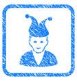 jester framed stamp vector image
