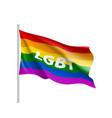 lgbt rainbow flag color clipart vector image vector image