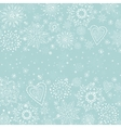 light blue cristmas background with snowflake vector image
