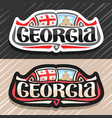 logo for georgia vector image vector image