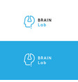 logo for psychology medical health center vector image
