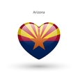 Love Arizona state symbol Heart flag icon vector image vector image