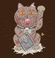 maneki neko zombie cat vector image