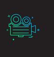 media and camera icon design vector image