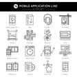 Mobile Application Line Icon Set vector image vector image