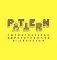modern font design with different patterns inside vector image vector image