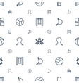 painting icons pattern seamless white background vector image vector image