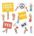 people hands holding strike and manifestation vector image