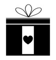 present icon black color icon vector image vector image