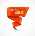 Red ribbon banner vector image vector image
