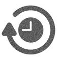 Repeat Clock Grainy Texture Icon vector image vector image