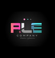 rle r l e three letter logo icon design vector image vector image