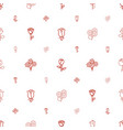 rose icons pattern seamless white background vector image vector image