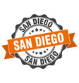 san diego round ribbon seal vector image vector image
