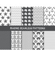 Sea and marine seamless patterns