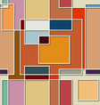 Seamless color texture of square elements vector image vector image