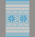 seamless knitting pattern christmas sweater design vector image