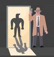 secret agent character vector image