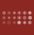 shining snowflakes icon vector image