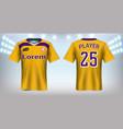 soccer jersey mockup template vector image