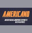 Stylish condensed headline typeface alphabet