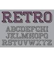 stylized retro font on background vector image