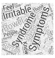 symptoms irritable bowel syndrome Word Cloud vector image vector image