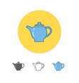 the teapot icon tea symbol vector image vector image