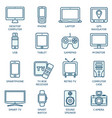 thin line icons set for technology devices vector image vector image