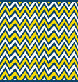 trendy yellow white and navy blue chevron pattern vector image vector image