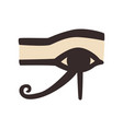 wedjat or eye of horus ancient egyptian symbol of vector image