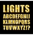yellow neon lamp letters font show casino vector image vector image