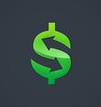 dollar sign arrow trade business logo vector image