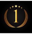 First Place Gold Laurel Design Label vector image