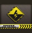 high voltage danger sign vector image