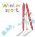 Winter landscape with ski