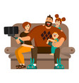 a happy big family spends leisure time together vector image vector image