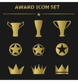 Award icon set vector image