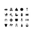 baby icon collections with solid style vector image vector image