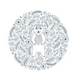 bear and flowers vector image vector image