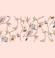 bird seamless patternnursery print trendy pink vector image