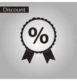 black and white style icon discount ribbon vector image vector image
