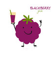 blackberry funny character for your design vector image vector image